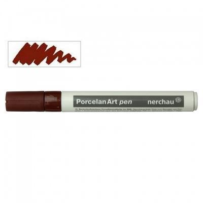 Nerchau Porcelan Art Pen - fix na porcelán, hnědý