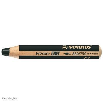 Stabilo WOODY 880/750 Pastelka 3v1 - černá - 1
