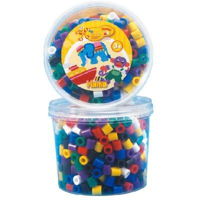 Hama Maxi Zažehlovací korálky 600 ks - mix základních barev v dóze - 1