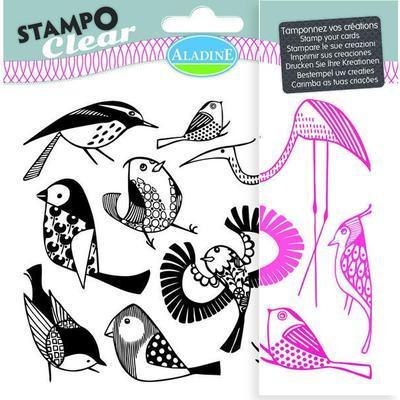 StampoClear Gelová razítka - Ptáčci - 1
