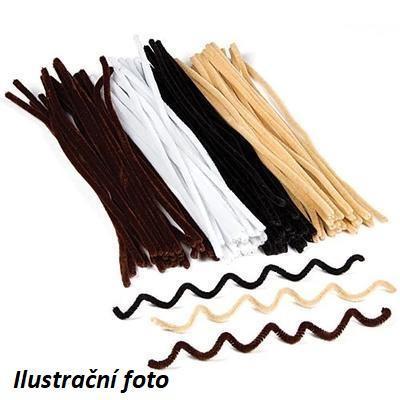 Chlupaté drátky přírodní barvy - 30cm, 100 ks - 1