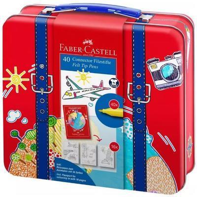Faber-Castell Popisovače CONNECTOR - Kufřík 40ks + příslušenství - 1