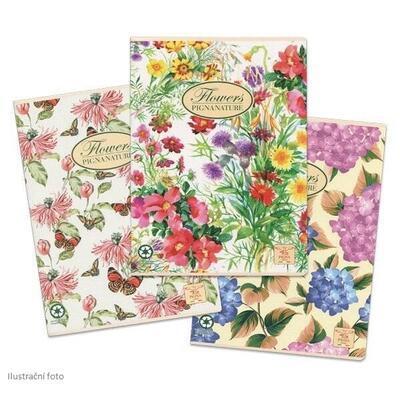 Školní sešit PIGNA A4, čistý, 40 listů - Nature Flowers  - 1