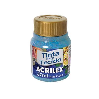 Acrilex Barva na textil 37ml - glitrová modrá 204