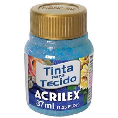 Acrilex Barva na textil 37ml - glitrová modrá 204 - 1