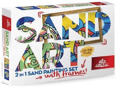 SAND ART - pískování obrázků - 2 obrázky k vypískování + 2 rámečky chameleon a ryby - 1