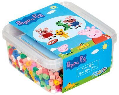 Hama MAXI Mix korálků v boxu - Peppa Pig, 900 ks - 1