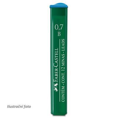 Faber-Castell Mikrotuhy  grafitové - 0,7 mm, B,     12 ks