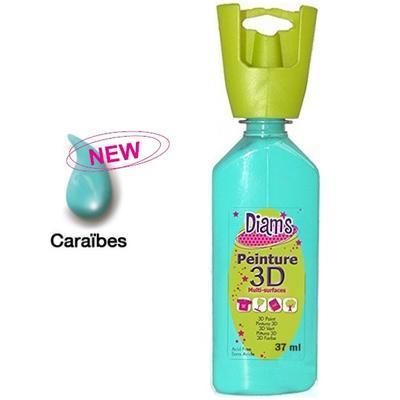 Diam's 3D akrylová barva 37 ml - lesklá karibská modrá - 1