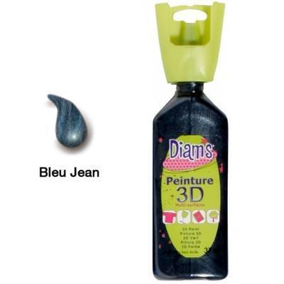 Diam's 3D akrylová barva 37 ml - perleťová džínová modrá - 1