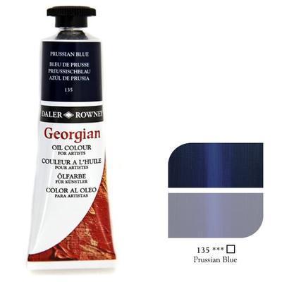 Daler & Rowney Georgian Oil 38ml - Prussian Blue 135, olejová barva - 1