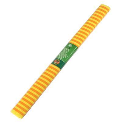 Krepový papír 67 - pruhovaný žluto oranžový