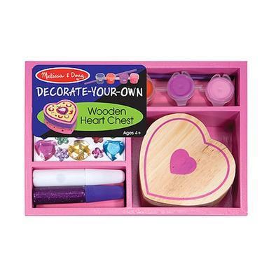 Dřevěná krabička k vymalování a dozdobení  Srdce - 1