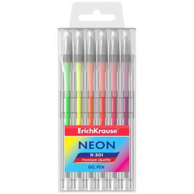 Gelová pera neonová - sada 6ks - 1