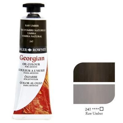 Daler & Rowney Georgian Oil 38ml - Raw Umber 247, olejová barva - 1