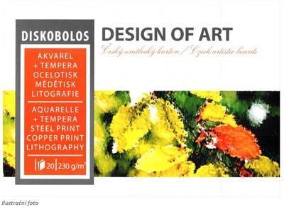 Blok akvarelový Diskobolos A4, 230 g/m2, 20 listů