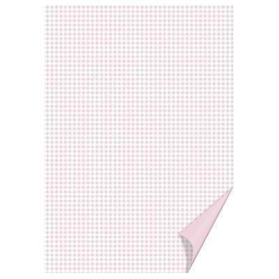 Happy Paper A4, 200 g/m2 - čtverečkovaný růžový