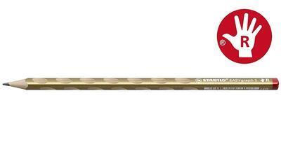 STABILO EASYgraph S Metallic HB - zlatá pro praváky - 1