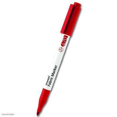 MONAMI Fabric Marker 470 - popisovač na světlý textil - červená / brush