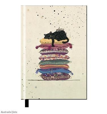 Note book A6, linka - Kočka na poduškách