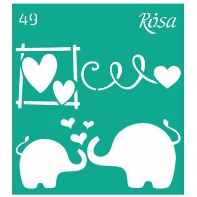 Šablona 9x10cm - Sloní láska