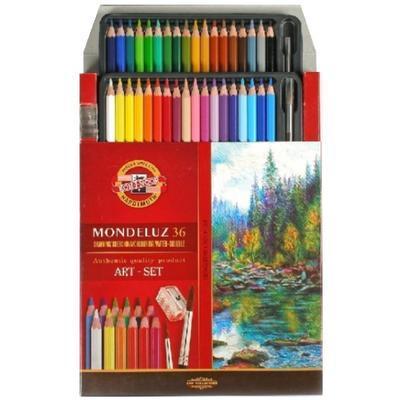 Mondeluz Akvarelové pastelky - 36 ks v papíru