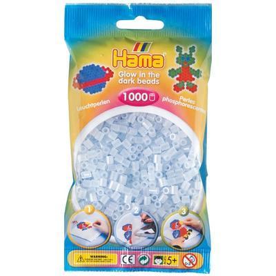 Hama MIDI Zažehlovací korálky  1000 ks - svítící modré
