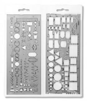 Souprava šablon Elektro - 3 ks - 1