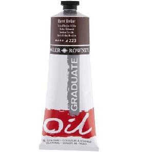Daler & Rowney Graduate Oil 200 ml - burnt umber 223 - 1