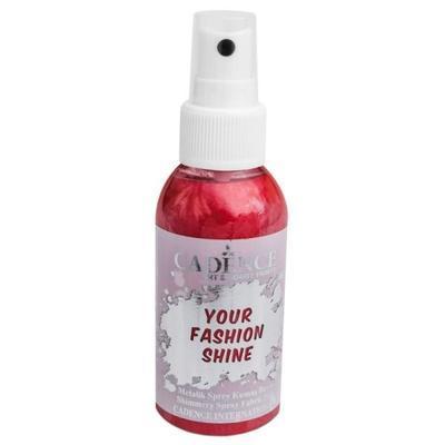 Perleťový sprej na tmavý textil, 100ml - červená