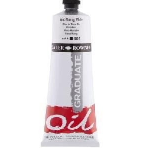 Daler & Rowney Graduate Oil 200 ml - zinc mixing white  001 - 1