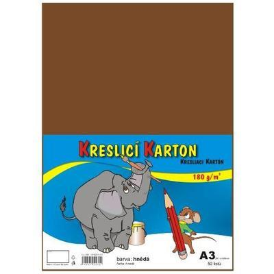 Kreslicí karton A3 180 g/m2 - hnědý