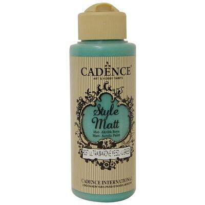 Matná akrylová barva Cadence Style Matt, 120 ml - ultramarin zelená