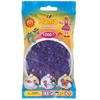 Hama MIDI Zažehlovací korálky 1000 ks - průhledné fialové