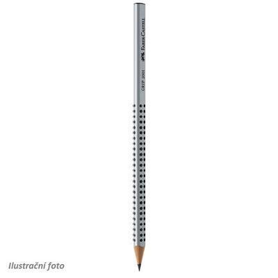 """Faber Castell Grafitová tužka GRIP 2001 - šedá H i pro """"L"""""""