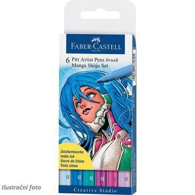 Faber-Castell PITT Artist Pen Brush - Manga Shojo 6 ks