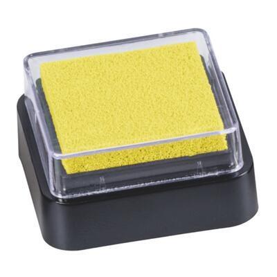 Razítkovací polštářek mini 3x3 cm - žlutý
