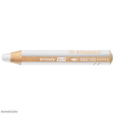 Stabilo WOODY 880/100 Pastelka 3v1 - bílá