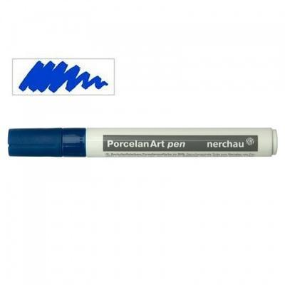 Nerchau Porcelan Art Pen - fix na porcelán, modrý