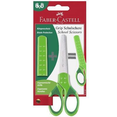 Faber-Castell Grip Školní nůžky s krytem - zelené - 1