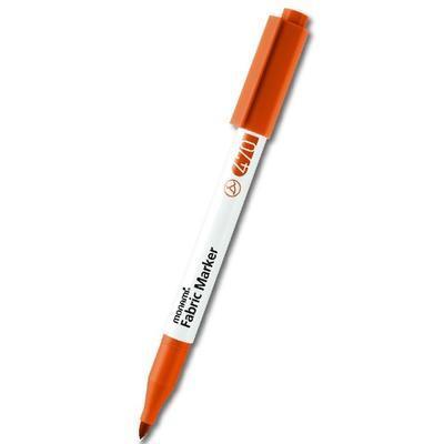 MONAMI Fabric Marker 470 - popisovač na světlý textil - fluo oranžová / brush