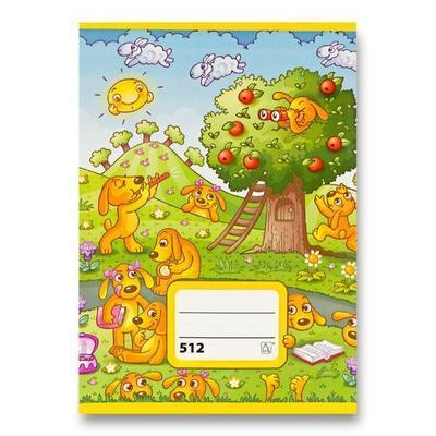 Sešit Junior č. 512 - formát A5, linkovaný, 10 listů, 2.třída
