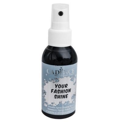 Perleťový sprej na tmavý textil, 100ml - černá