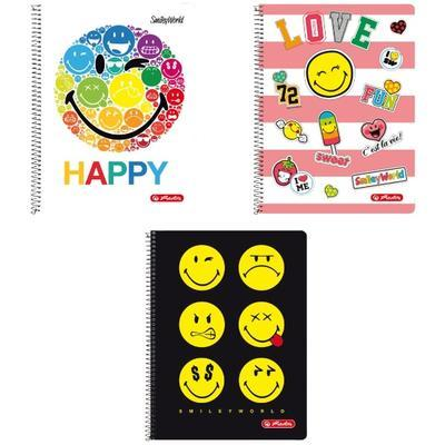 Spirálový blok A4/80 listů, čtverečkovaný - Happy - 1