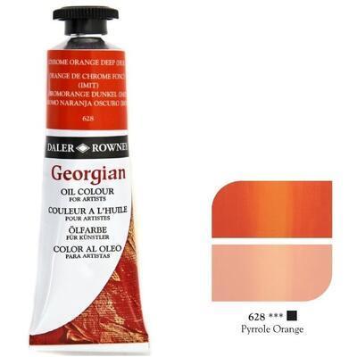 Daler & Rowney Georgian Oil 38ml - Chrome Orange Deep 628, olejová barva - 1