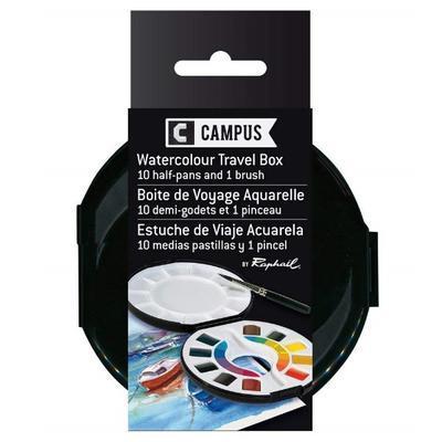 Raphaël  Campus Akvarelové barvy v kulaté plast. krabičce  - 1