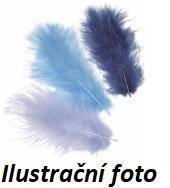 Peří Marabu  9 cm - modrotyrkysový mix