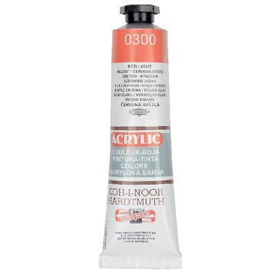 KOH-I-NOOR Akrylová barva Acrylic 40 ml č.0300 - červená světlá