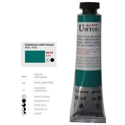 Olejová barva 20ml - Kobaltová zeleň tmavá/ 4