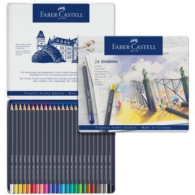 Faber-Castell Pastelky Goldfaber - 24 ks v plechu - 1